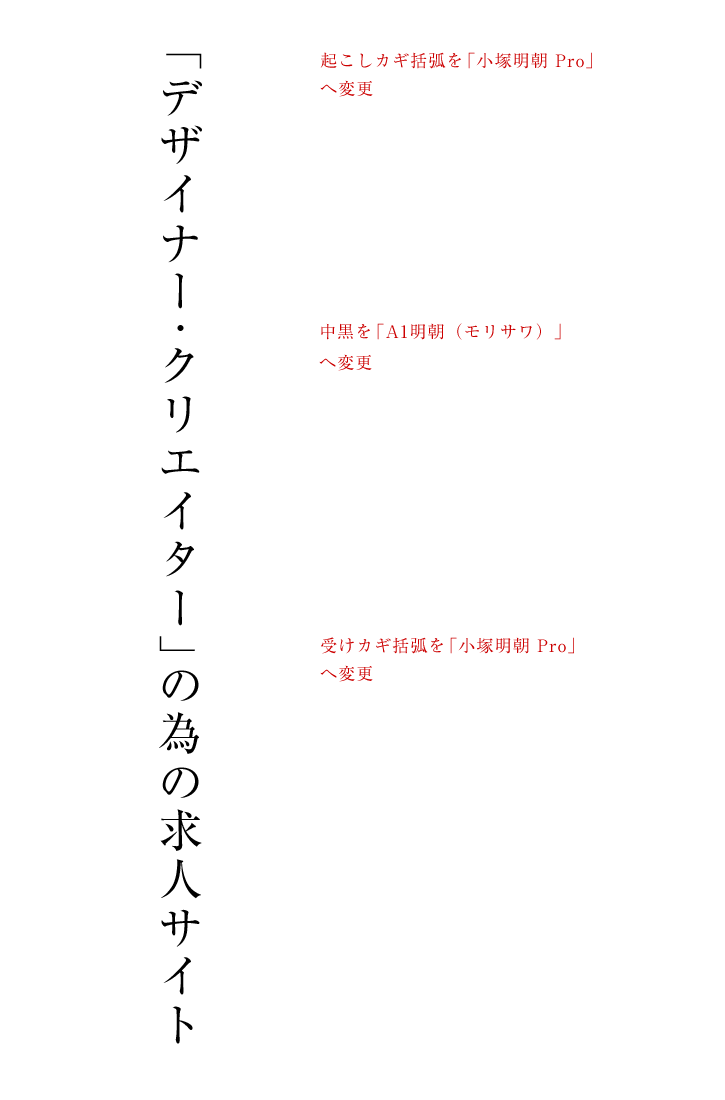 組版を調整後の具体例